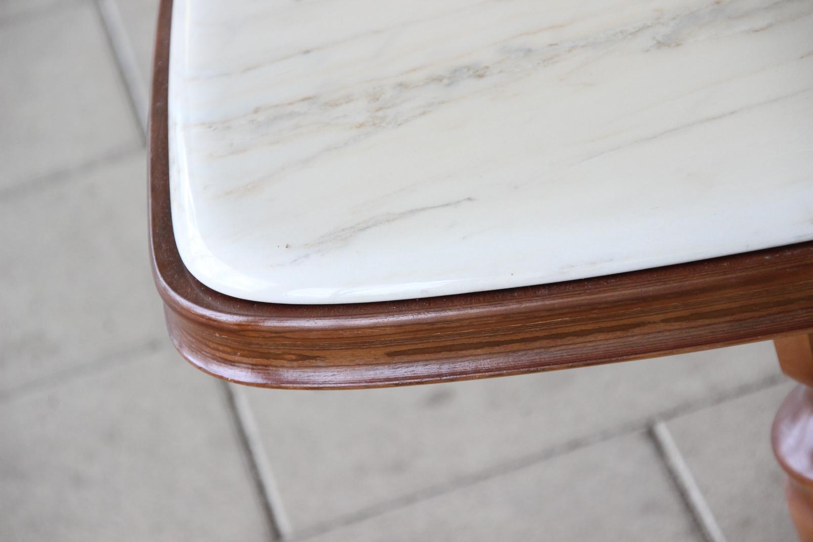 Couchtisch mahagoni holz marmor steinplatte for Marmor tischplatte oval