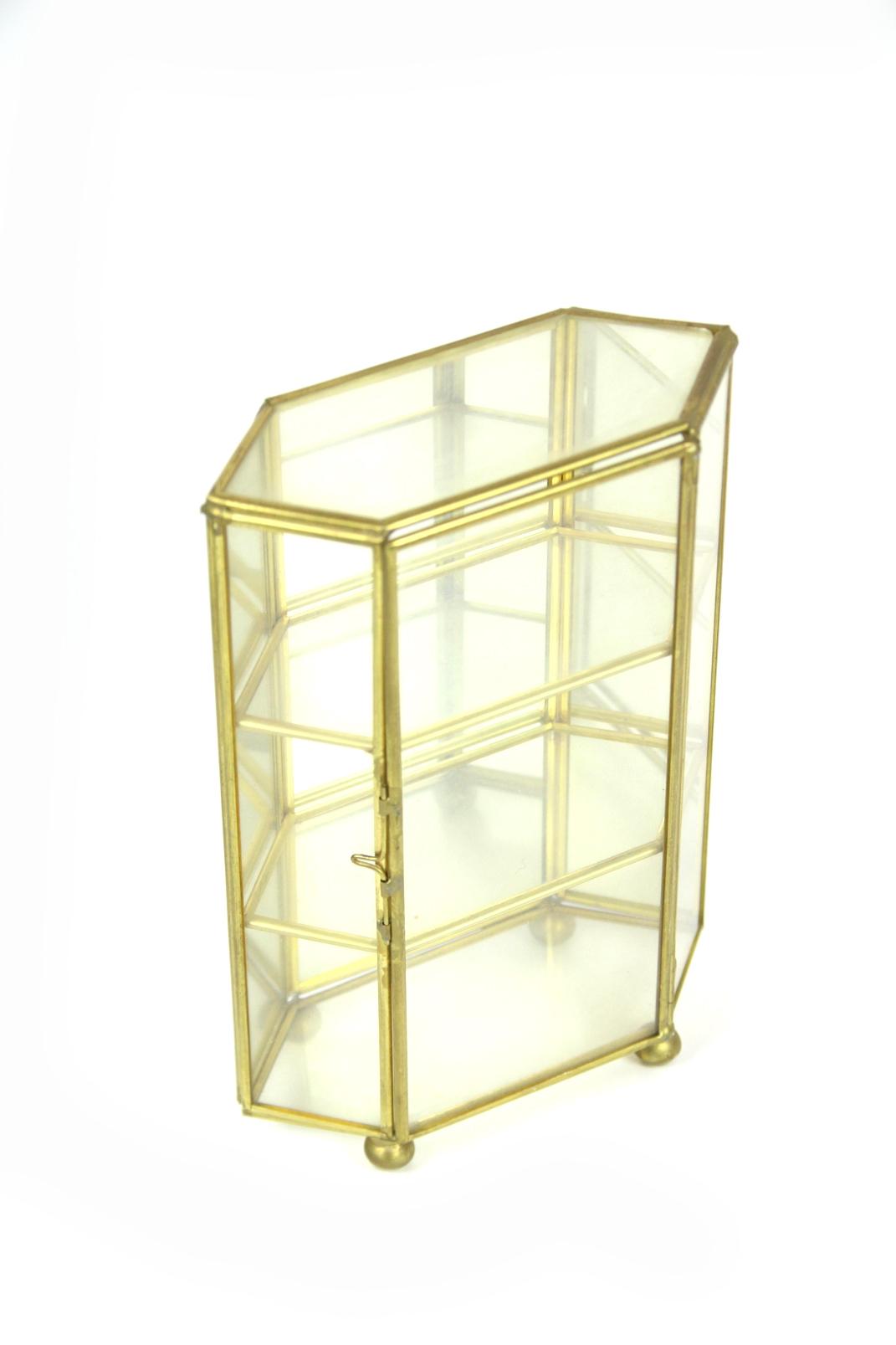 au ergew hnliche miniatur spiegel vitrine glasschrank. Black Bedroom Furniture Sets. Home Design Ideas