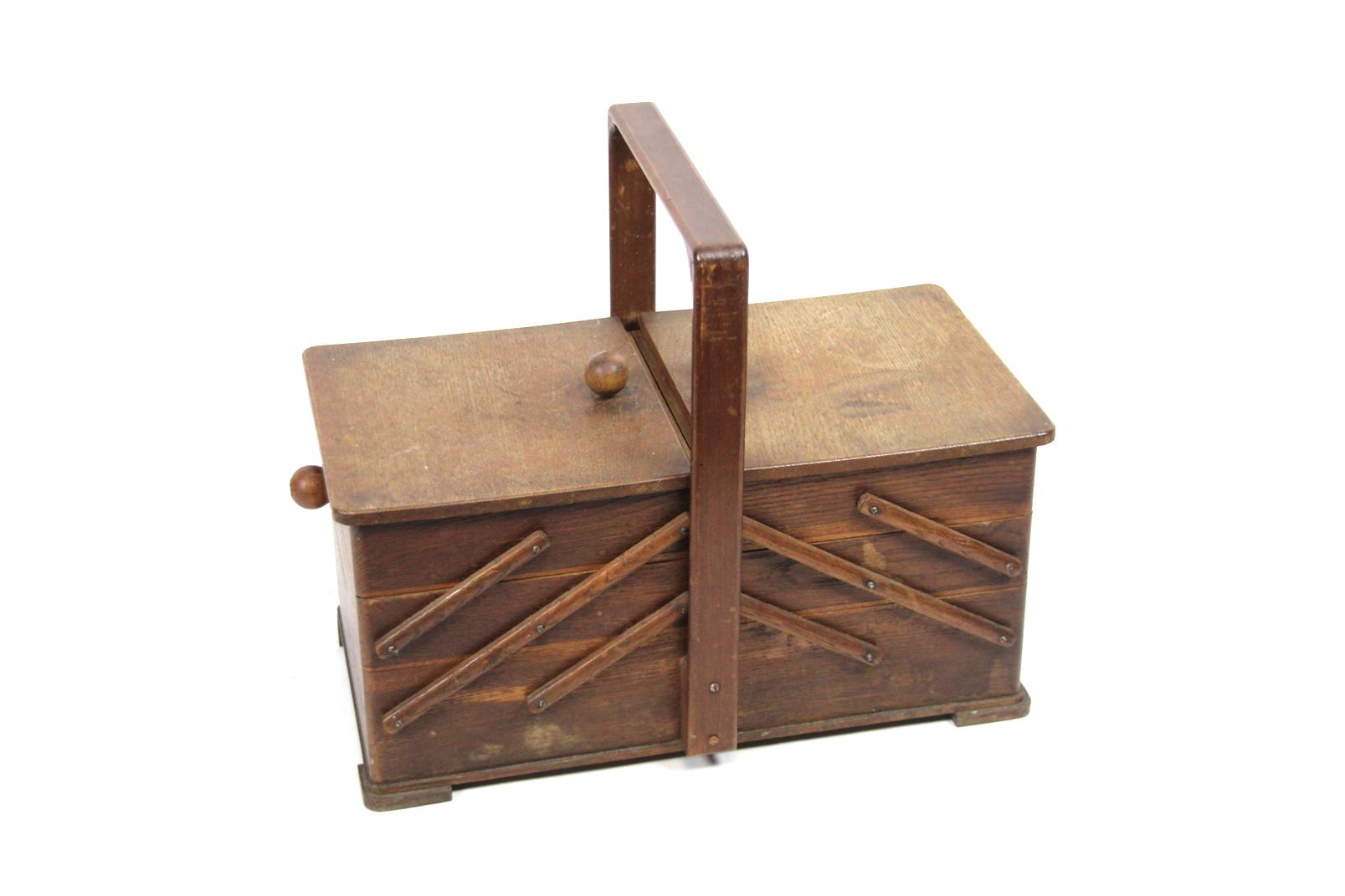 gro es holz n hk stchen dunkelbraun 30x41cm n h kasten box klappbar aufbewahrung ebay. Black Bedroom Furniture Sets. Home Design Ideas