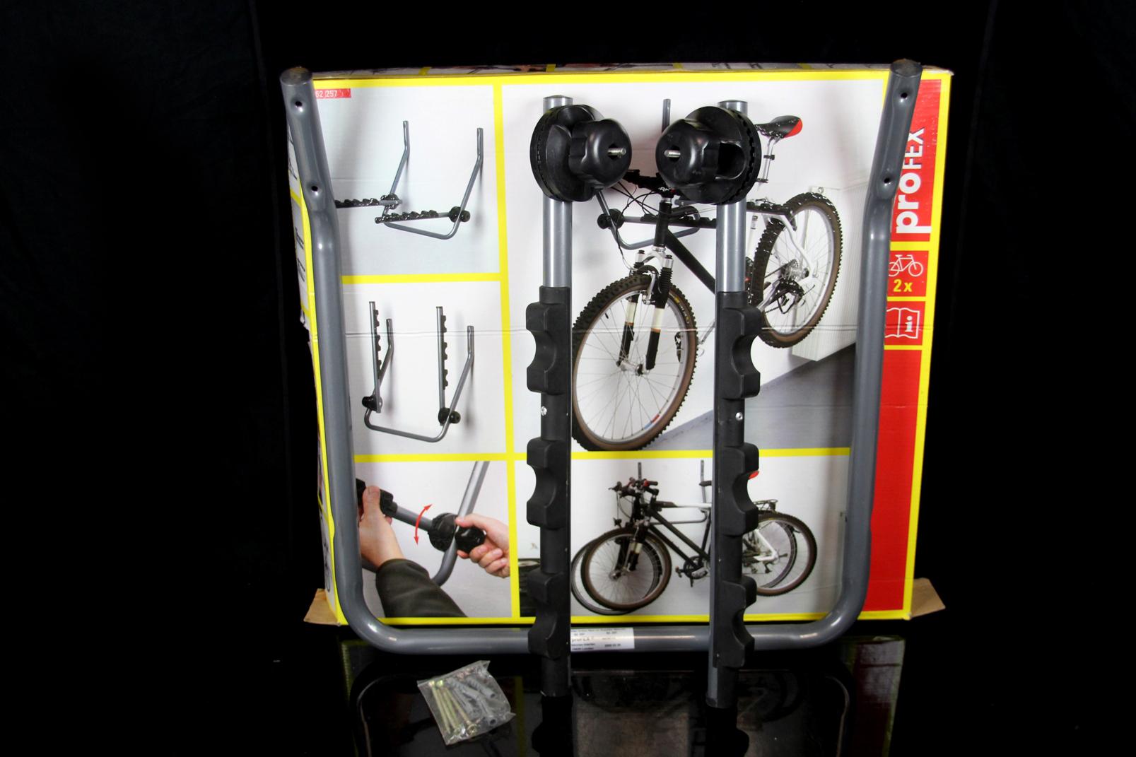 Fahrrad wandhalter profex fahrradaufh ngung f 2 fahrr der - Fahrradaufhangung wand ...