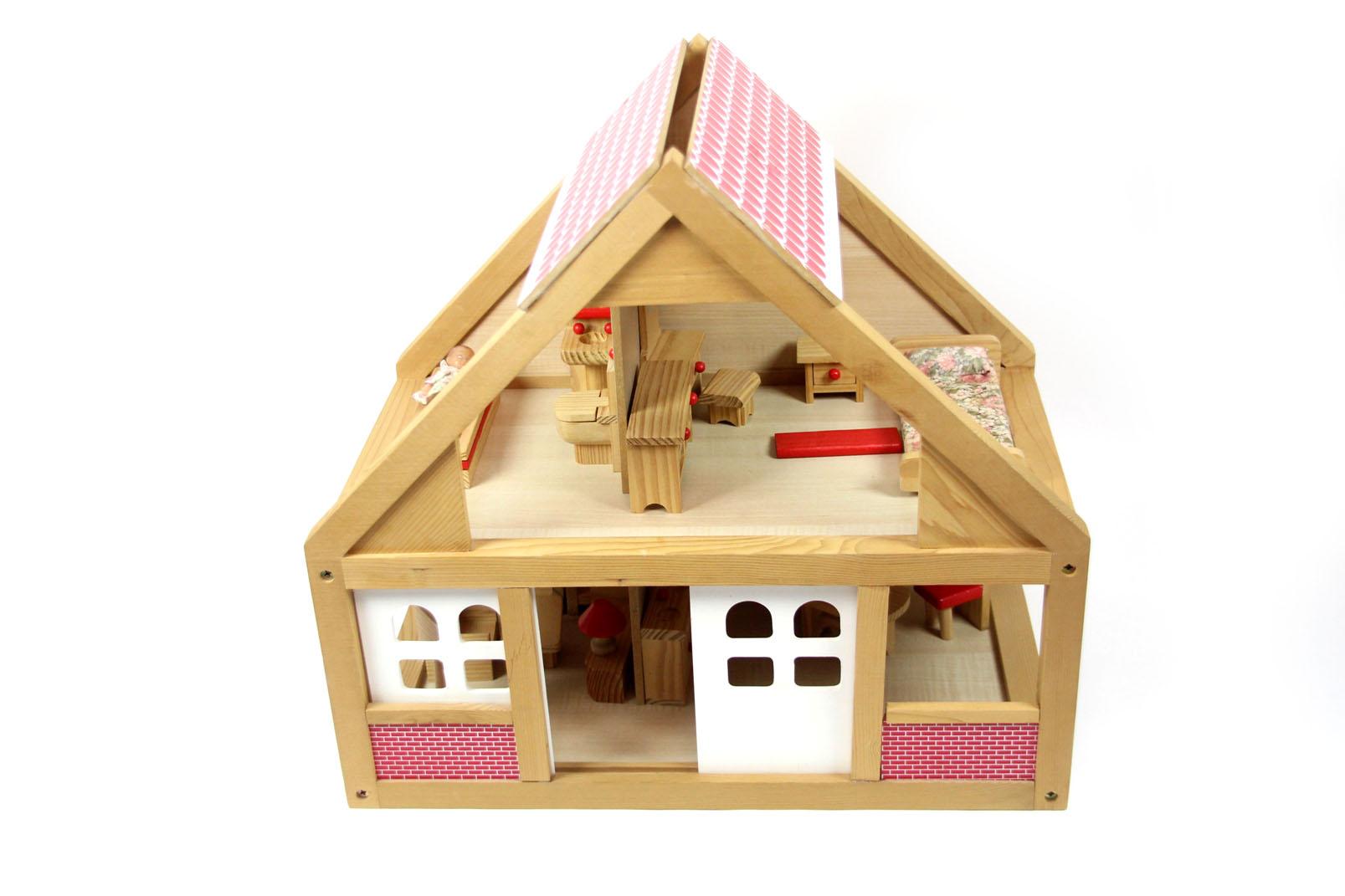 puppenhaus holz 30 cm puppen. Black Bedroom Furniture Sets. Home Design Ideas