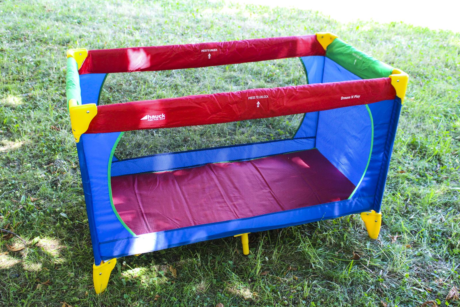 hauck dream n play kinder reisebett mit extra matratze baby laufstall bett ebay. Black Bedroom Furniture Sets. Home Design Ideas