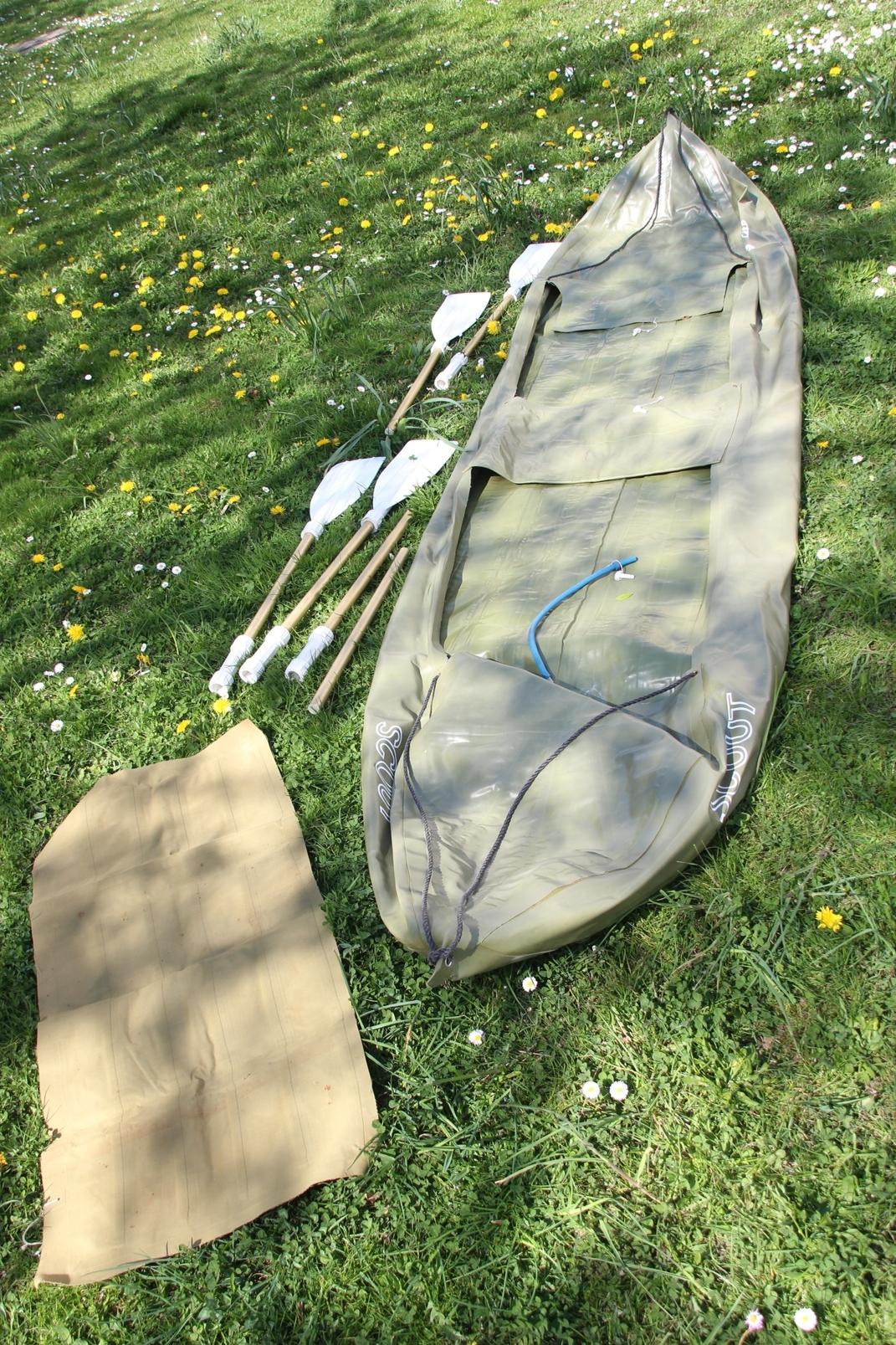 schlauchboot barum sico scout orig ddr paddelboot l 360 cm paddel 2 mann kajak ebay. Black Bedroom Furniture Sets. Home Design Ideas