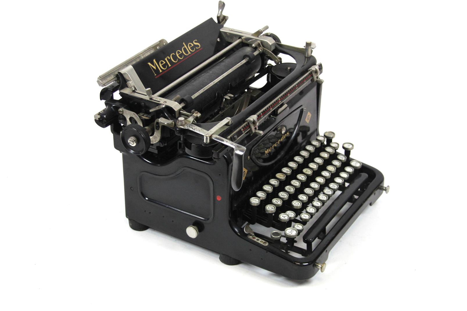 antike mercedes mod 3 schreibmaschine um 1920 zella. Black Bedroom Furniture Sets. Home Design Ideas