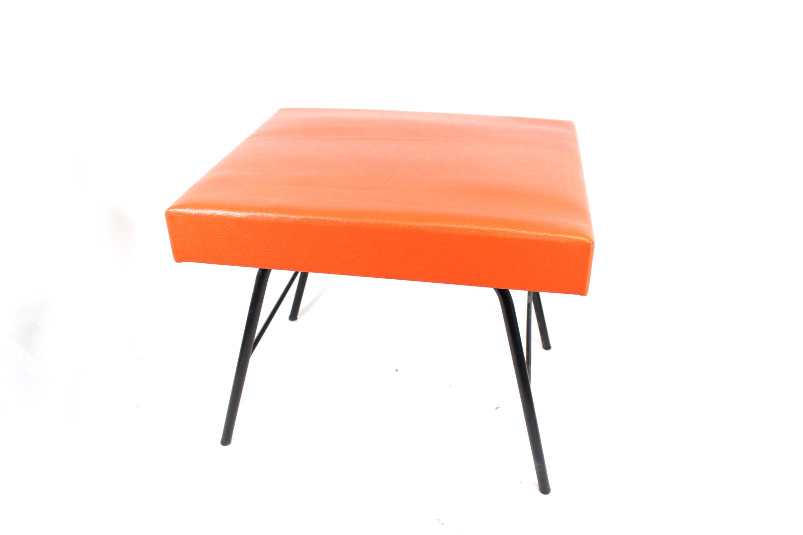 ddr stufenhocker orange tritt leiter polster hocker vem starkstrom anlagenbau ebay. Black Bedroom Furniture Sets. Home Design Ideas