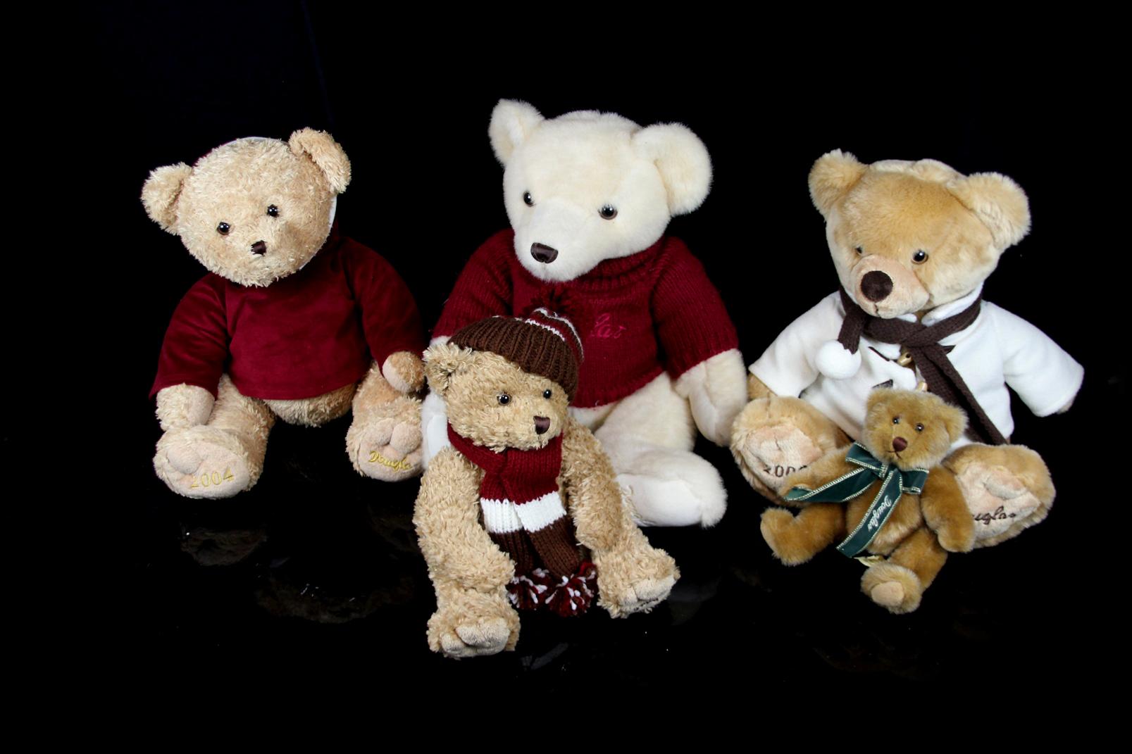 5 douglas sammelteddys 2004 2006 2009 sammler teddys. Black Bedroom Furniture Sets. Home Design Ideas
