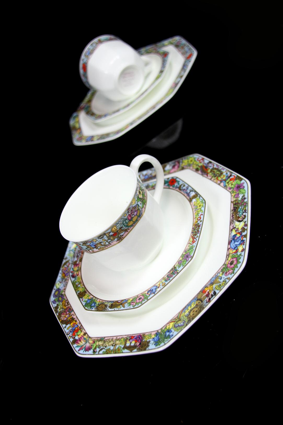 2 kaffeegedecke villeroy boch heinrich bone china porzellan happy seasons 2. Black Bedroom Furniture Sets. Home Design Ideas