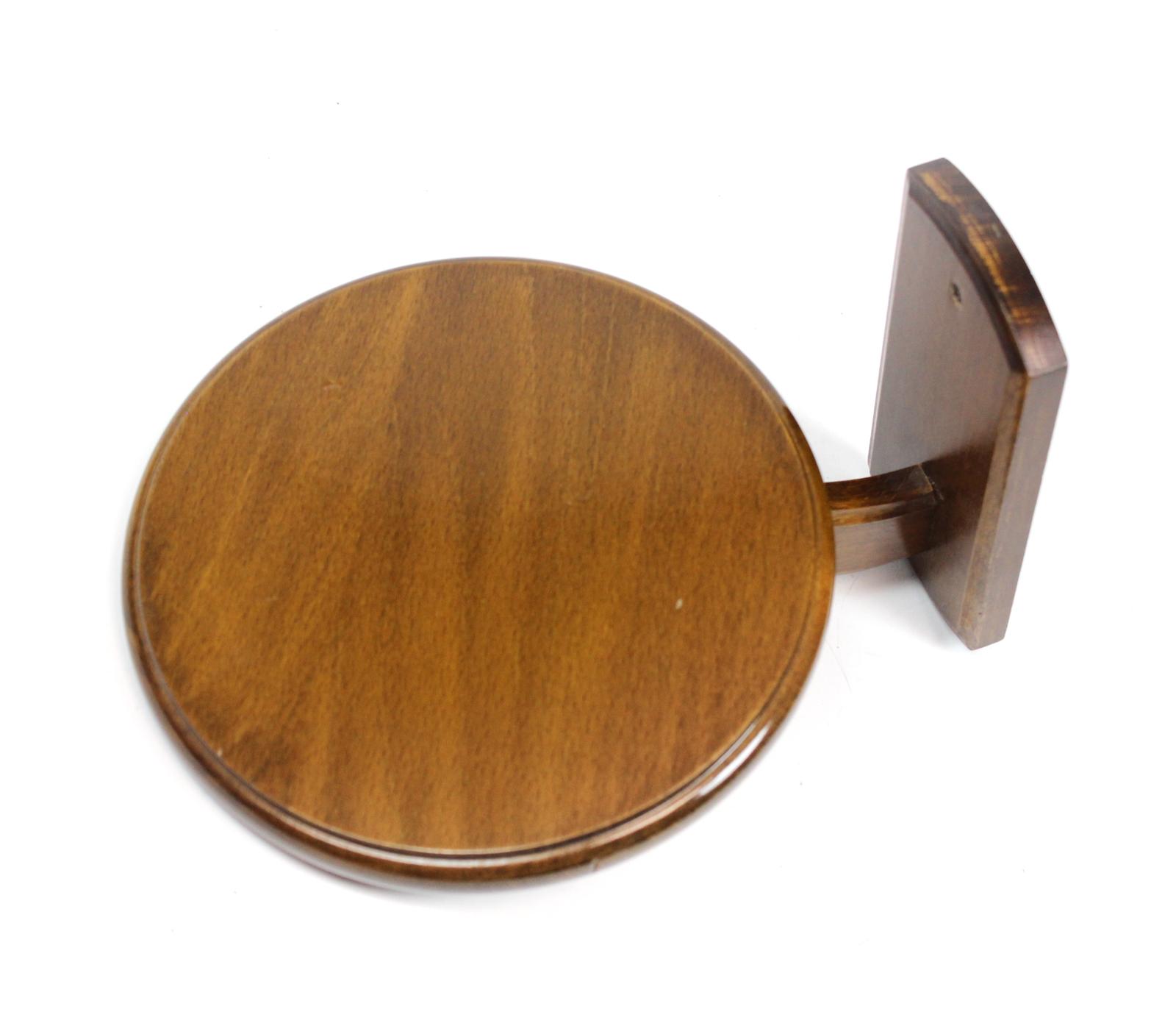 kleines wandregal nussbaum holz wand halter 21 cm dunkel braun plateau blage ebay. Black Bedroom Furniture Sets. Home Design Ideas