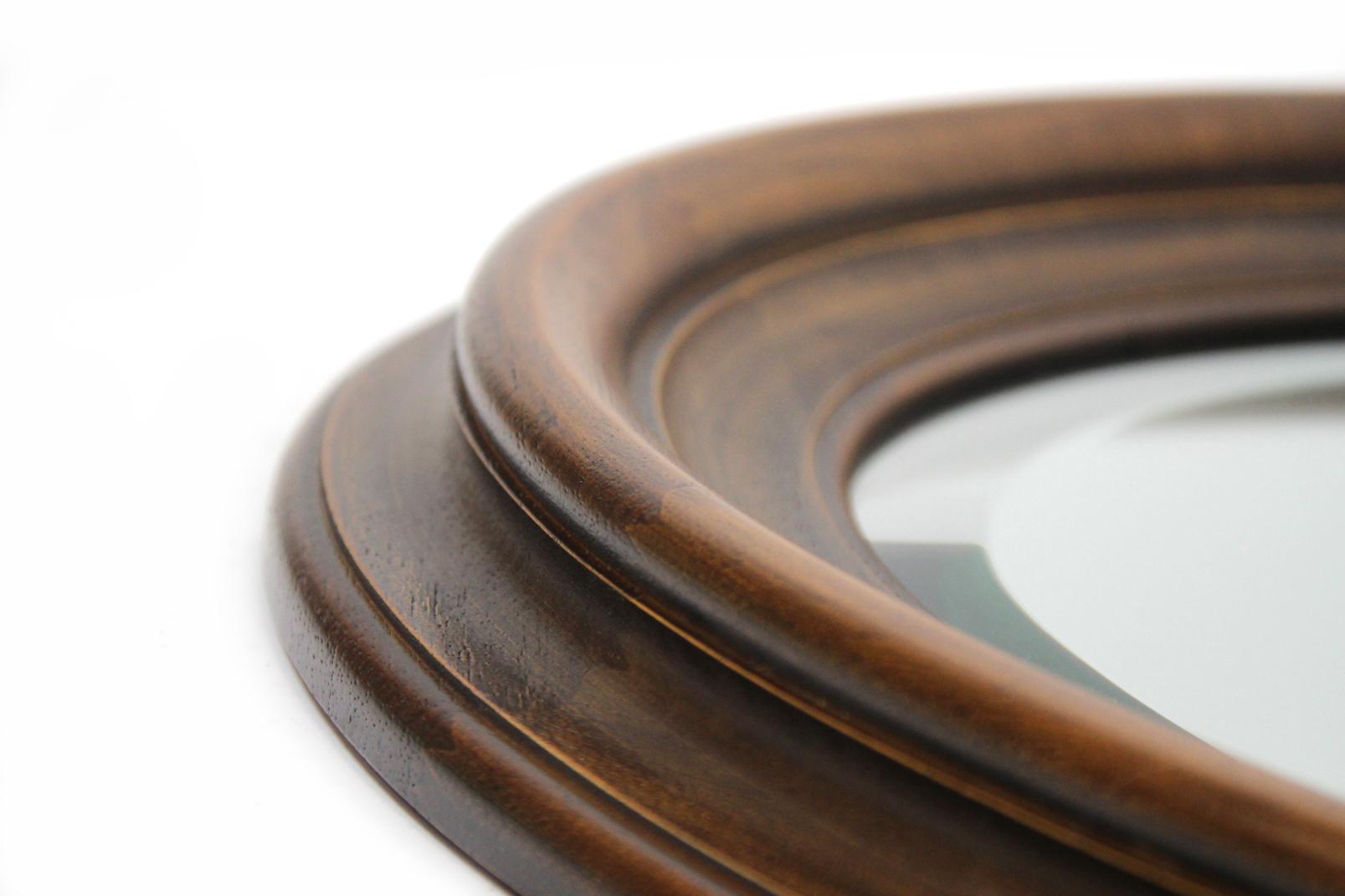 spiegel im art deco stil oval 87 x 67 cm massiv holz rahmen facetten schliff ebay. Black Bedroom Furniture Sets. Home Design Ideas