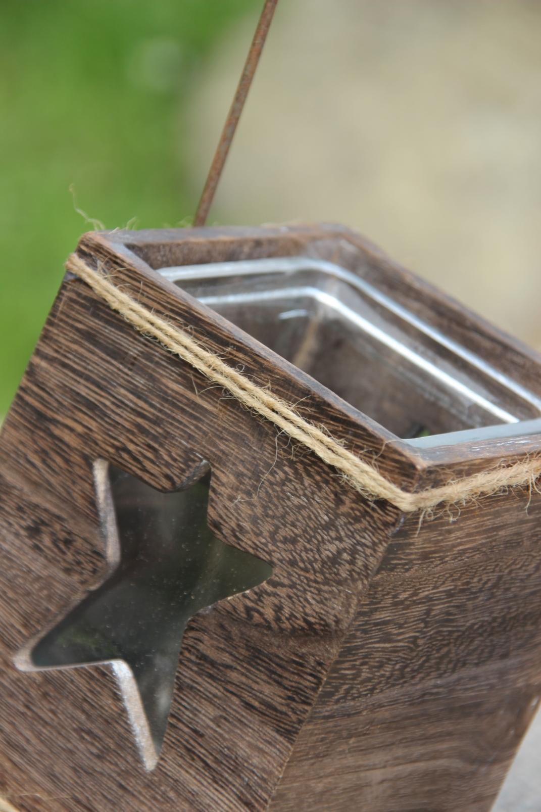 Set 3 sch ne garten windlichter laterne teelichthalter for Holzdekor garten