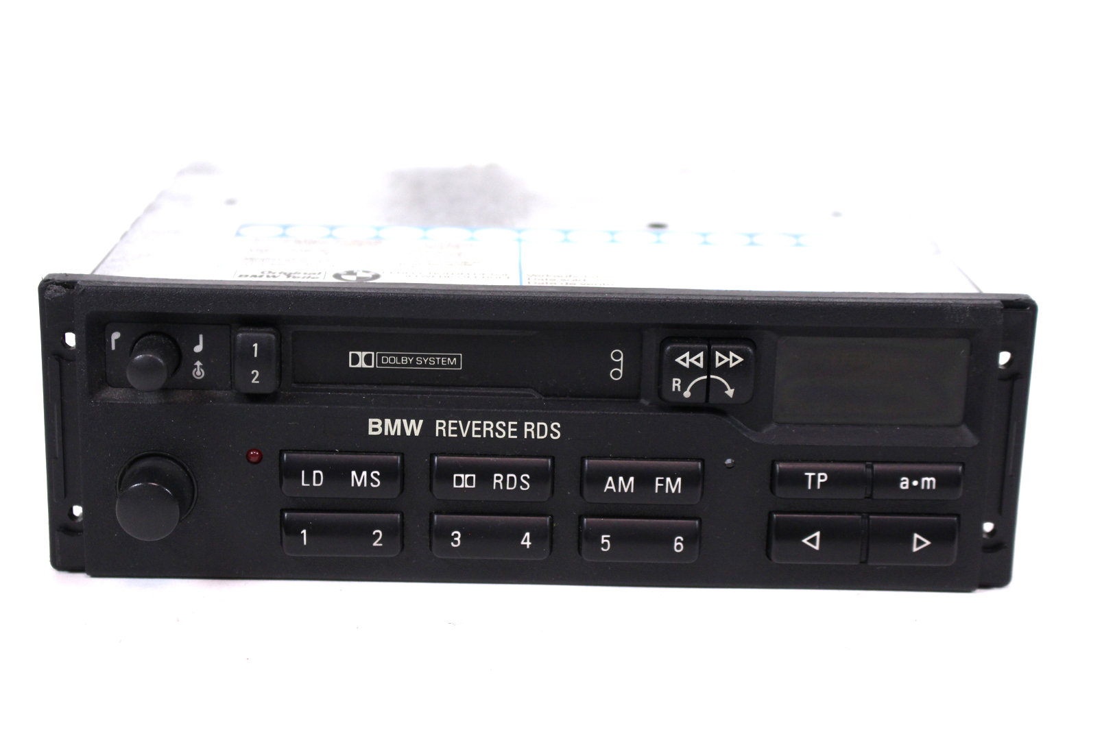 autoradio blaupunkt mc kassette bmw reverse rds 7643836340 mit code tape defekt ebay. Black Bedroom Furniture Sets. Home Design Ideas