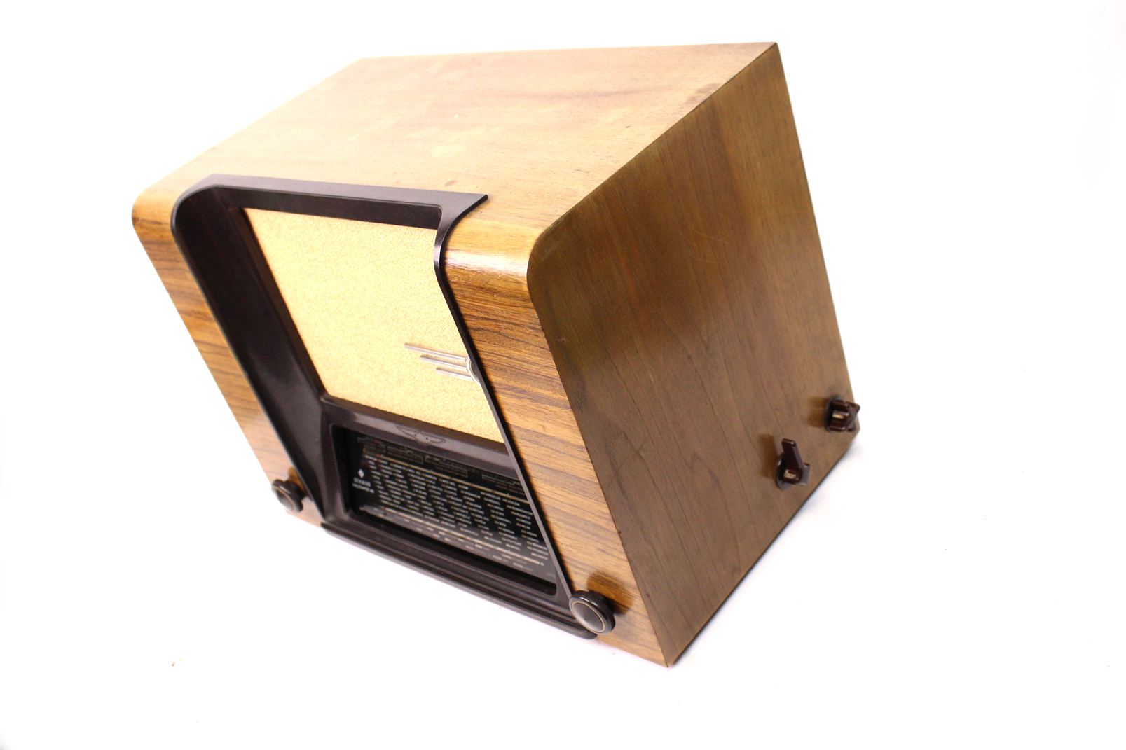 schaub weltsuper 40 luxus r hrenradio vintage. Black Bedroom Furniture Sets. Home Design Ideas