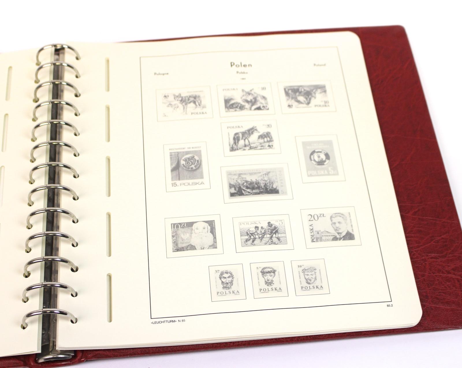 leuchtturm excellent de briefmarken vordruckalbum sf. Black Bedroom Furniture Sets. Home Design Ideas